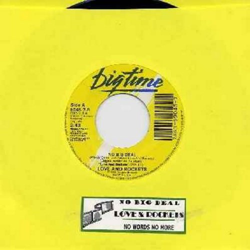 Love And Rockets - No Big Deal/No Words No More (MINT condition with juke box label) - M10/ - 45 rpm Records