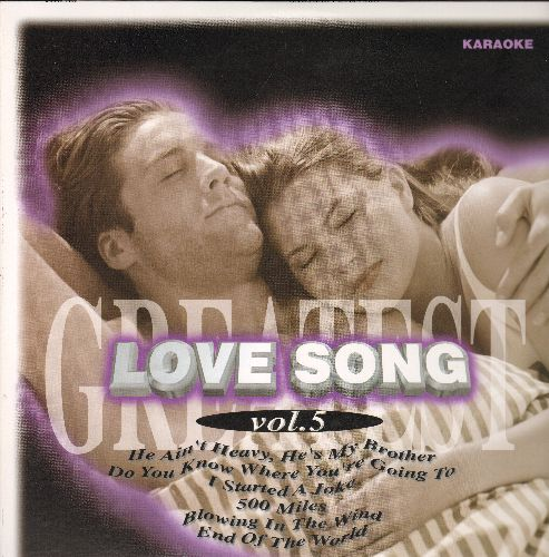 Laser Disc Love Song Vol. 5 - LASER DISC KARAOKE Love Song Vol. 5, 28 Tracks with Vintage Rock & Roll Love Ballads: I Started A Joke, Imagine, Moon River, Love Me Tender, House Of The Rising Sun, MORE! (This is a LASER DISC, not any other media!) - NM9/NM