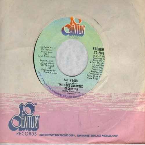 Love Unlimited Orchestra - Satin Soul/Just Living It Up - NM9/ - 45 rpm Records