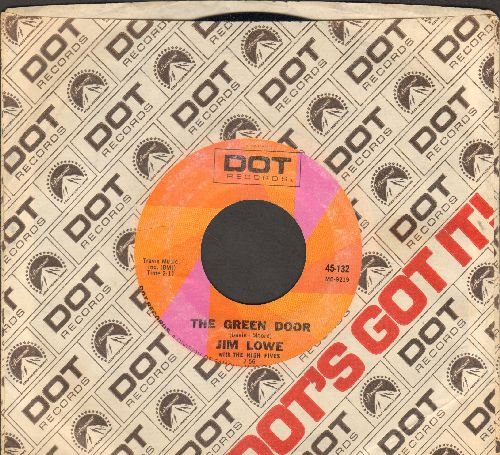 Lowe, Jim - The Green Door/Four Walls (early re-issue with Dot company sleeve) - NM9/ - 45 rpm Records