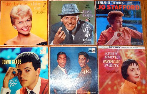 LP Cover 6-Pack - Set #27 includes 6 Vintage LP covers (NO records!) - Exactly as pictured, great for decoration or as replacement covers.  - VG7/ - Supplies