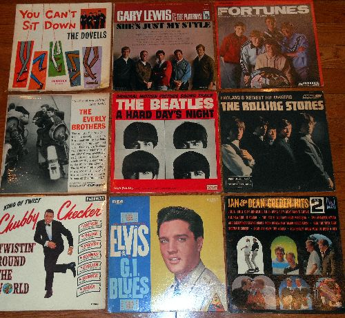LP Cover 9-Pack - Set #15 includes 9 Vintage LP covers (NO records!) - Exactly as pictured, great for decoration or as replacement covers.  - VG7/ - Supplies