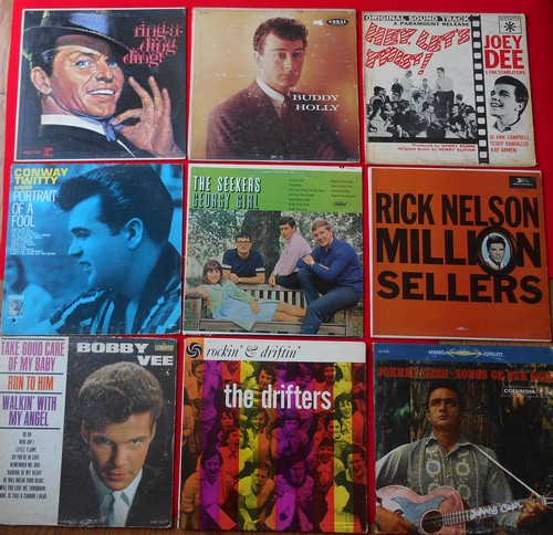 LP Cover 9-Pack - Set #12 includes 9 Vintage LP covers (NO records!) - Exactly as pictured, great for decoration or as replacement covers.  - VG7/ - Supplies