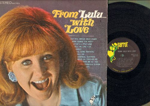 Lulu - From Lulu…With Love: Shout, She Will Break Your Heart, Tossin & Turnin, Here Comes The Night, Call Me (vinyl STEREO LP record) - NM9/VG7 - LP Records