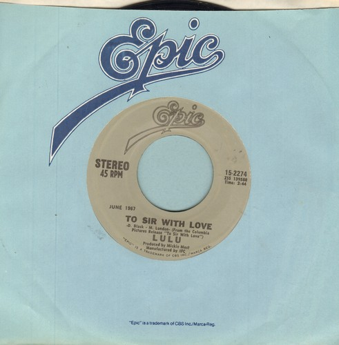 Lulu - To Sir With Love/Morning Dew (double-hit re-issue) - EX8/ - 45 rpm Records