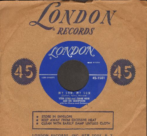 Lynn, Vera - My Son, My Son/Our Heaven On Earth (with London company sleeve) - EX8/ - 45 rpm Records
