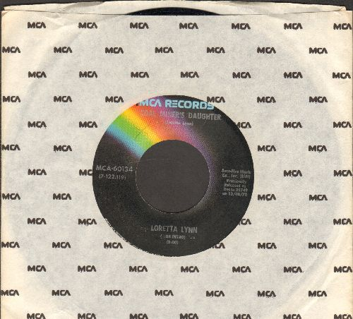 Lynn, Loretta - Coal Miner's Daughter/You're Lookin' At Country (double-hit re-issue with MCA company sleve) - NM9/ - 45 rpm Records