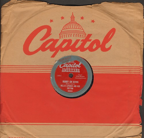 Lutcher, Nellie - Hurry On Down/The Lady's In Love With You (10 inch 78rpm record with Capitol company sleeve) - G5/ - 78 rpm