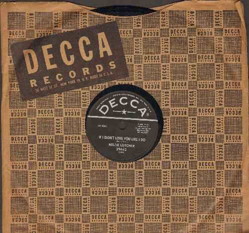Lutcher, Nellie - Whose Honey Are You/If I Didn't Love You Like I Do (10 inch 78 rpm record with Decca company sleeve) - NM9/ - 78 rpm