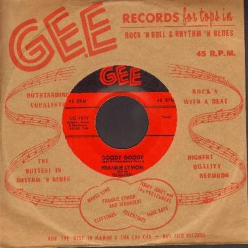 Lymon, Frankie - Goody Goody/Creation Of Love (with RARE vintage Gee company sleeve!) - NM9/ - 45 rpm Records