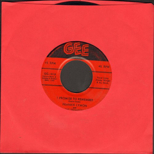 Lymon, Frankie & The Teenagers - I Promise To Remember/Who Can Explain? (first issue, wol) - VG7/ - 45 rpm Records