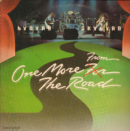 Lynyrd Skynyrd - One More From The Road: Sweet Home Alabama, Travelin' Man, Free Bird, Crossroads (2 vinyl LP record set, gate-fold cover) - EX8/VG7 - LP Records
