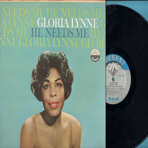 Lynne, Gloria - He Needs Me: Wild Is The Wind, If You Love Me (really Love Me), Greensleeves, I've Got It Bad And That Ain't Good (vinyl MONO LP record) - M10/EX8 - LP Records