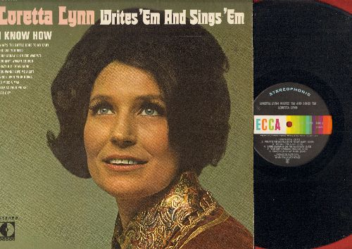 Lynn, Loretta - Writes 'Em And Sings 'Em: You Ain't Woman Enough,  I Know How, What's The Bottle Done To My Baby, To Take A Man (vinyl STEREO LP record, lower left cover corner clipped) - NM9/EX8 - LP Records