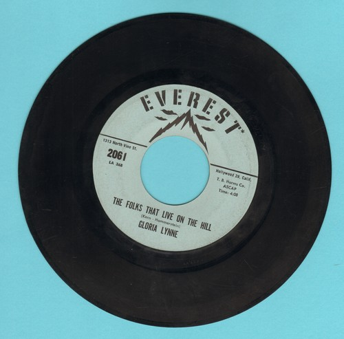 Lynne, Gloria - The Folks That Live On The Hill/That's A Joy - VG7/ - 45 rpm Records