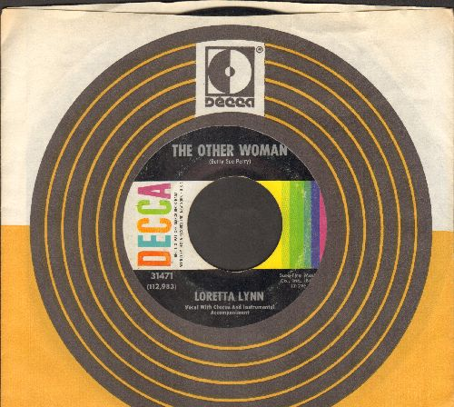 Lynn, Loretta - The Other Woman/Who'll Help Me Get Over You (with Decca company sleeve) - EX8/ - 45 rpm Records