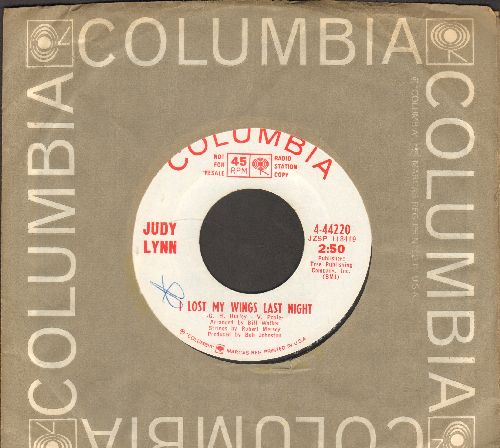 Lynn, Judy - I Lost My Wings Last Night/I Don't Play With Matches Anywhere (DJ advance pressing with Columbia company sleeve) - NM9/ - 45 rpm Records