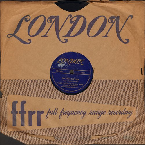 Lynn, Vera - My Son, My Son/Our Heaven On Earth (10 inch 78 rpm redcord with London company sleeve) - EX8/ - 45 rpm Records
