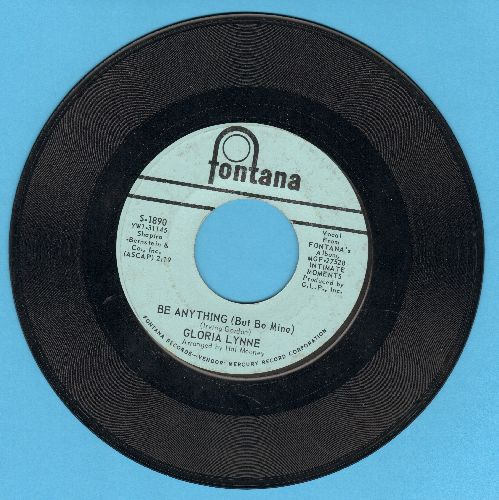 Lynne, Gloria - Be Anything (But Be Mine)/Soul Serenade - VG7/ - 45 rpm Records
