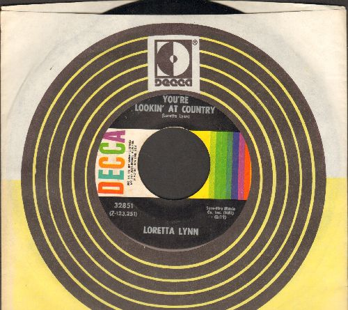 Lynn, Loretta - You're Lookin' At Country/When You're Poor (with Decca company sleeve) - M10/ - 45 rpm Records