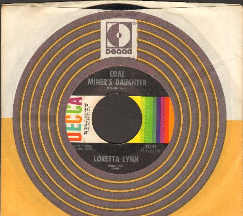 Lynn, Loretta - Coal Miner's Daughter/The Man Of The House (with Decca company sleve) - EX8/ - 45 rpm Records