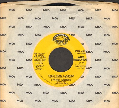Lynyrd Synyrd - Sweet Home Alabama/Take Your Time (with MCA company sleeve) - EX8/ - 45 rpm Records