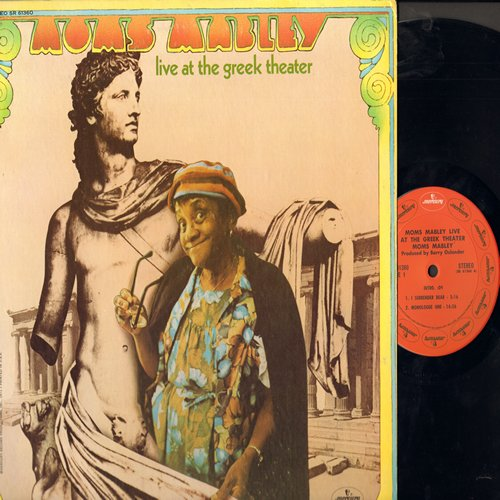 Mabley, Moms - Moms Mabley Live at the Greek Theater - The Classic Comedienne offers up some of her most memorable comedy routines (vinyl STEREO LP record) - NM9/EX8 - LP Records