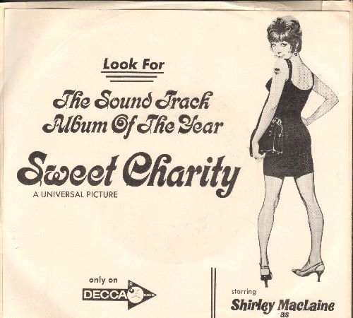 Kaye, Sammy & His Orchestra - I Love To Cry At Weddings/I'm A Brass Band (from film -Sweet Charity- DJ advance pressing with picture sleeve) - M10/NM9 - 45 rpm Records