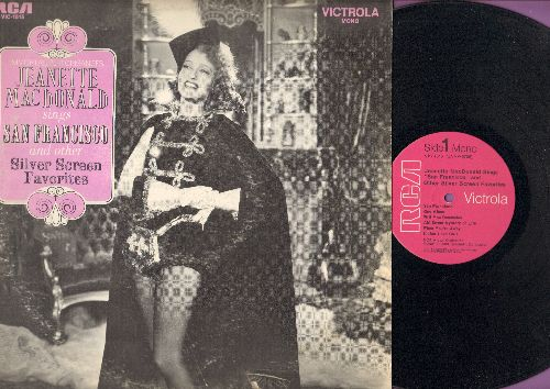 MacDonald, Jeanette - San Francisco and other Silver Screen Favorites: Indian Love Call, Ah! Sweet Mystery Of Life, Will You Remember (vinyl MONO LP record, re-issue of vintage recordings) - NM9/EX8 - LP Records