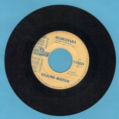 Madison, Rosalind - Inconceivable/When Your Old Love Is Your New Love (DJ advance pressing) - EX8/ - 45 rpm Records