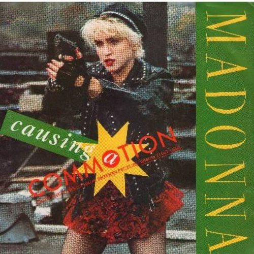 Madonna - Causing A Commotion/Jimmy, Jimmy (with picture sleeve) - NM9/EX8 - 45 rpm Records