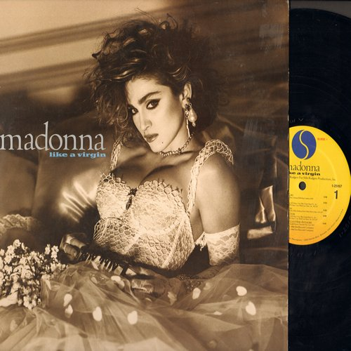 Madonna - Like A Virgin: Material Girl, Angel, Dress You Up, Pretender (vinyl STEREO LP record) - EX8/EX8 - LP Records