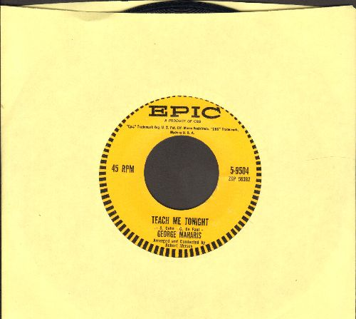 Maharis, George - Teach Me Tonight/After The Lights Go Down Low  - NM9/ - 45 rpm Records