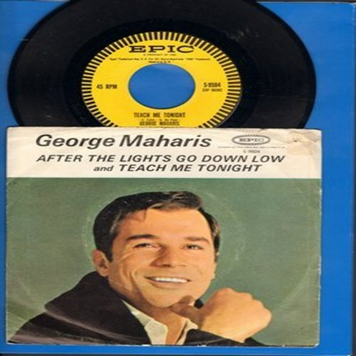 Maharis, George - Teach Me Tonight/After The Lights Go Down Low (with picture sleeve) - NM9/VG7 - 45 rpm Records