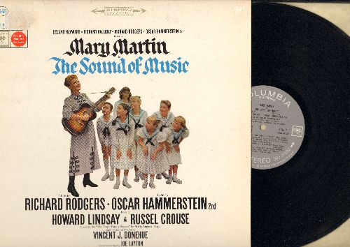 Martin, Mary - The Sound Of Music - Rodgers & Hammerstein Musical, Original Cast satrring Mary Martin (vinyl STEREO LP record, gray label, 360 degrees Sound) - VG7/EX8 - LP Records