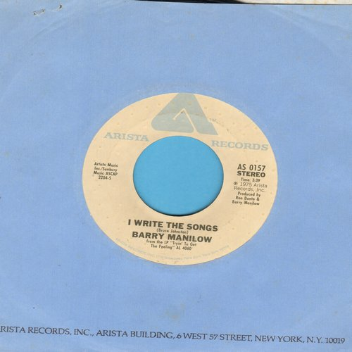 Manilow, Barry - I Write The Songs/A Nice Boy Like Me (with Arista company sleeve) - EX8/ - 45 rpm Records