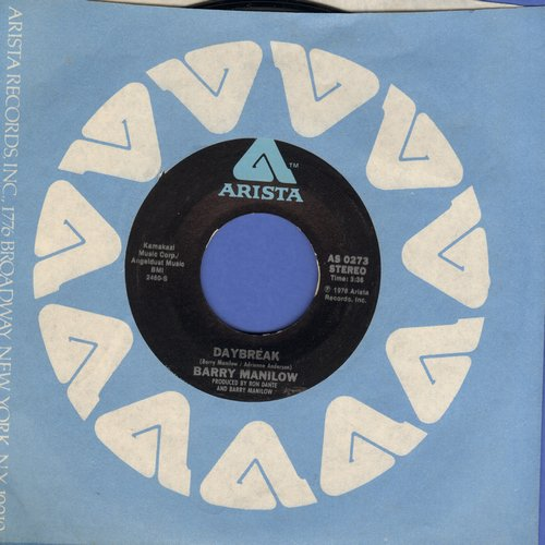 Manilow, Barry - Daybreak/Jump Shoot Boogie (MINT condition with Arista company sleeve)) - M10/ - 45 rpm Records