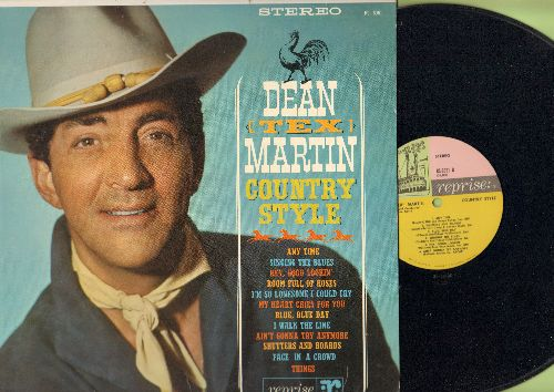 Martin, Dean - Dean (Tex) Martin Country Style: Singing The Blues, I Walk The Line, Hey Good Lookin', Face In The Crowd (vinyl STEREO LP record) - NM9/NM( - LP Records