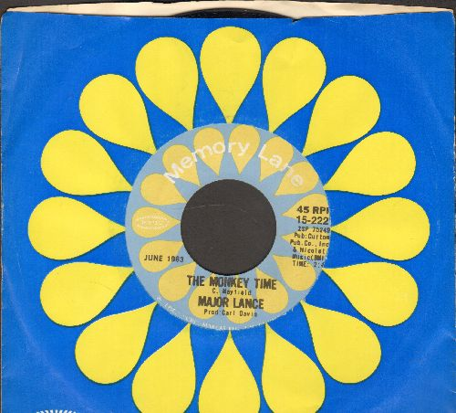 Lance, Major - The Monkey Time/Um, Um, Um, Um, Um, Um (double-hit re-issue with company sleeve) - NM9/ - 45 rpm Records