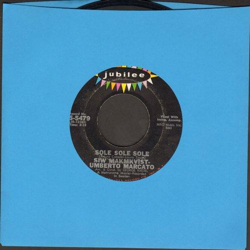 Malmkvist, Siw & Umberto Maracto - Sole Sole Sole/Sabato Sera (US Pressing, sung in Italian, artist's name misspelled -MAKMKVIST- on label) - EX8/ - 45 rpm Records