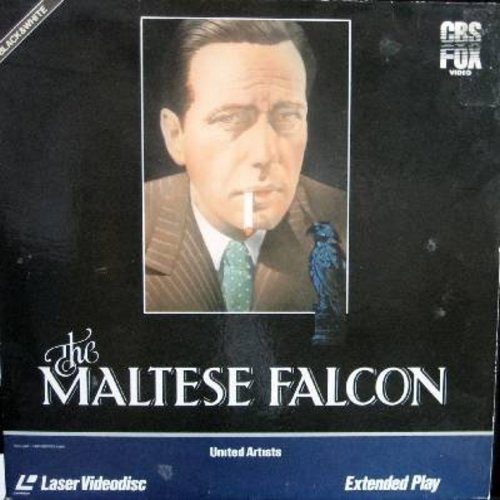 Maltese Falcon - The Maltese Falcon - The Classic Oscae Winner starring Humphrey Bogart ans Mary Astor - This is a LASER DISC, NOT ANY OTHER KIND OF MEDIA! - NM9/EX8 - Laser Discs