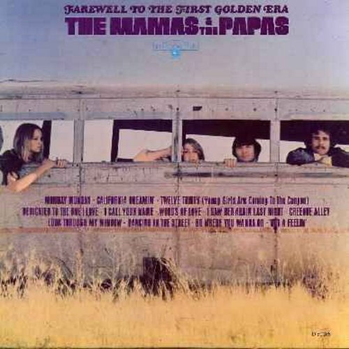 Mamas & Papas - Farewell To The First Golden Era: Monday Monday, California Dreamin', Dedicated To The One I Love, I Saw Her Again Last Night, Dancing In The Street (vinyl LP record) - EX8/EX8 - LP Records