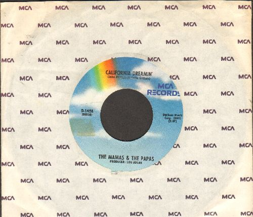 Mamas & Papas - California Dreamin'/Twelver Thirty (double-hit re-issue with MCA company sleeve) - EX8/ - 45 rpm Records