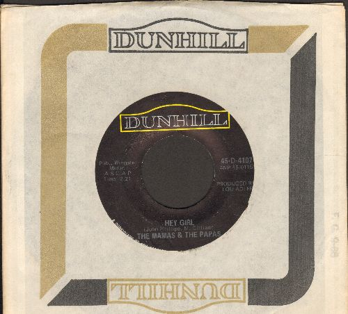Mamas & Papas - Hey Girl/Glad To Be Unhappy - EX8/ - 45 rpm Records