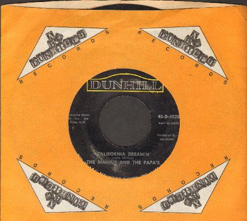 Mamas & Papas - California Dreamin'/Twelver Thirty (double-hit re-issue with MCA company sleeve) - VG7/ - 45 rpm Records
