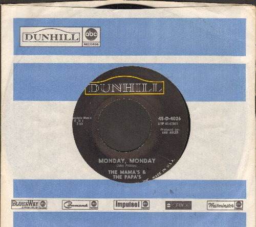 Mamas & Papas - Monday, Monday/Got A Feelin' (with company sleeve) - NM9/ - 45 rpm Records