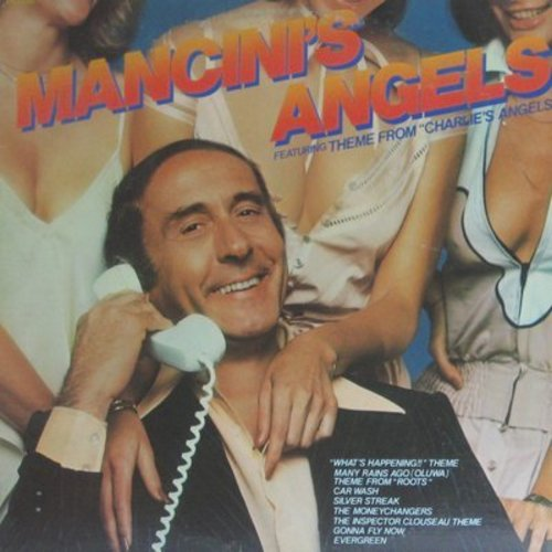 Mancini, Henry - Mancini's Angels: Inspector Clouseau Theme, Car Wash, What's Happenin' Theme, Music From Roots, Charleie's Angels Theme (vinyl STEREO LP record) - NM9/EX8 - LP Records