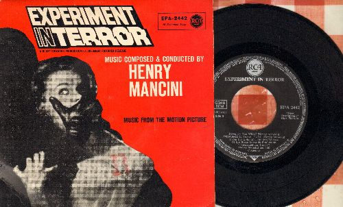 Mancini, Henry & His Orchestra - Experiment In Terror: The Good Old Days/Golden Gate Twist/Down By The Wharf/Experiment Ib Terror (vinyl EP record, German Pressing with picture cover) - NM9/EX8 - 45 rpm Records