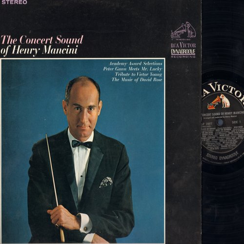 Mancini, Henry - The Concert Sound of Henry Mancini - Academy Award Selections Peter Gunn Meets Mr. Lonely, Tribute to Victor Young, David Rose, more! (vinyl STEREO LP record) - NM9/NM9 - LP Records