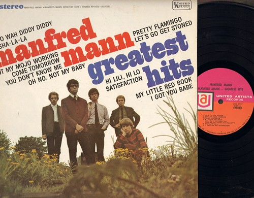 Mann, Manfred - Greatest Hits: Do Wah Diddy Diddy, Hi Lili Hi Lo, Sha-La-La, Satisfaction, Oh No Not My Baby, I Got You Babe (vinyl STEREO LP record) - NM9/EX8 - LP Records